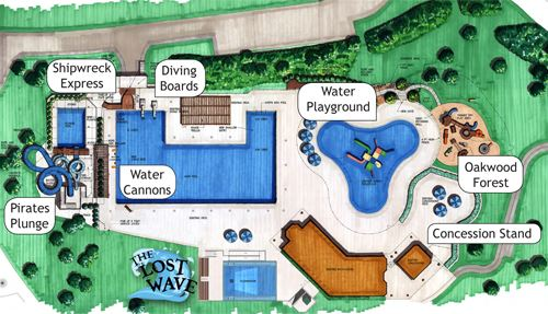 Aquatic Center Map