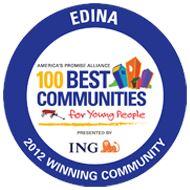 Edina 2012 Winning Community, 100 Best Communities