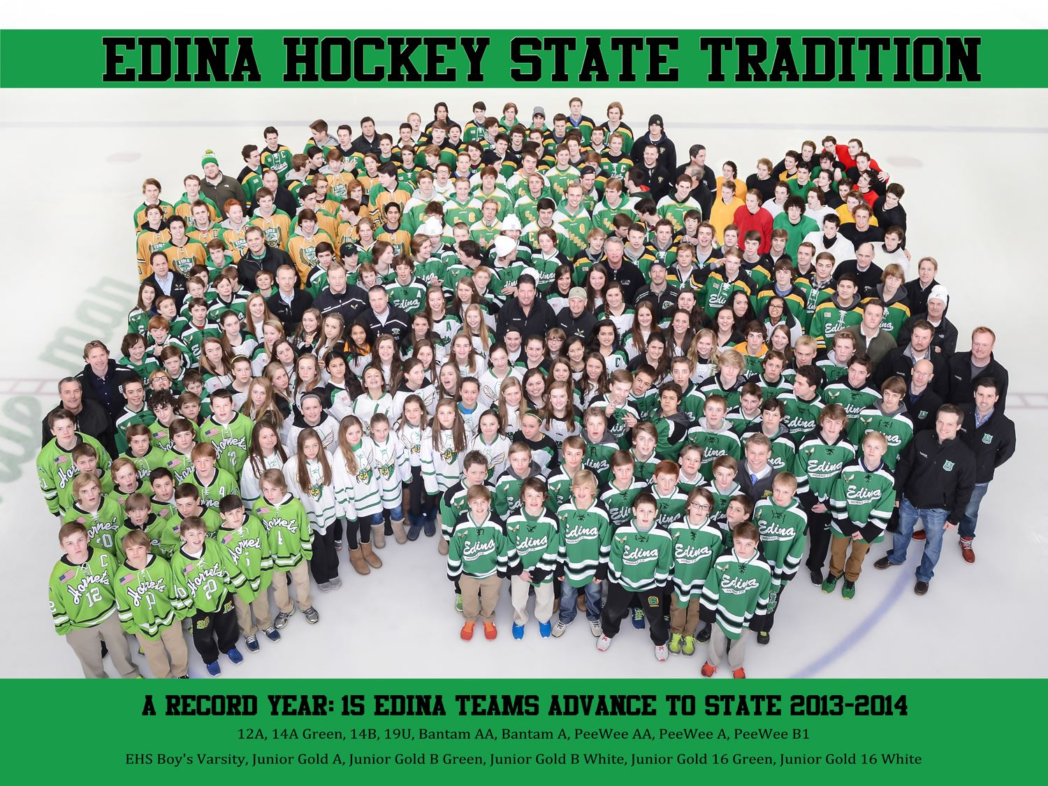 Edina Hockey Teams Group Photo