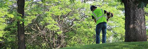 Park Maintenance staff work to keep Edina's parks ready for visitors.