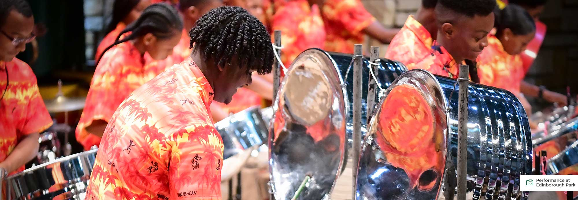 Youth Steel Orchestra from the U.S. Virgin Islands performance at Edinborough Park