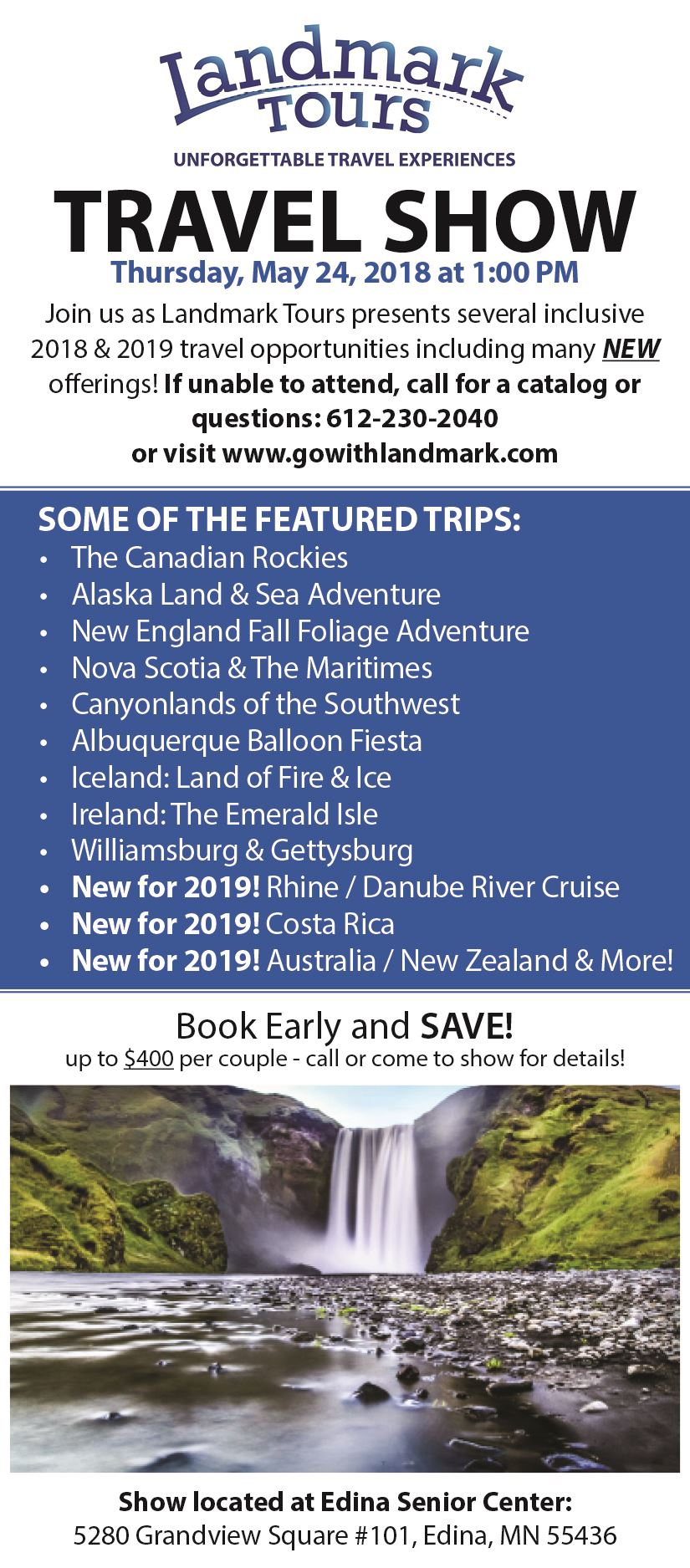2018 Travel Show Ad Small - Summer 2018