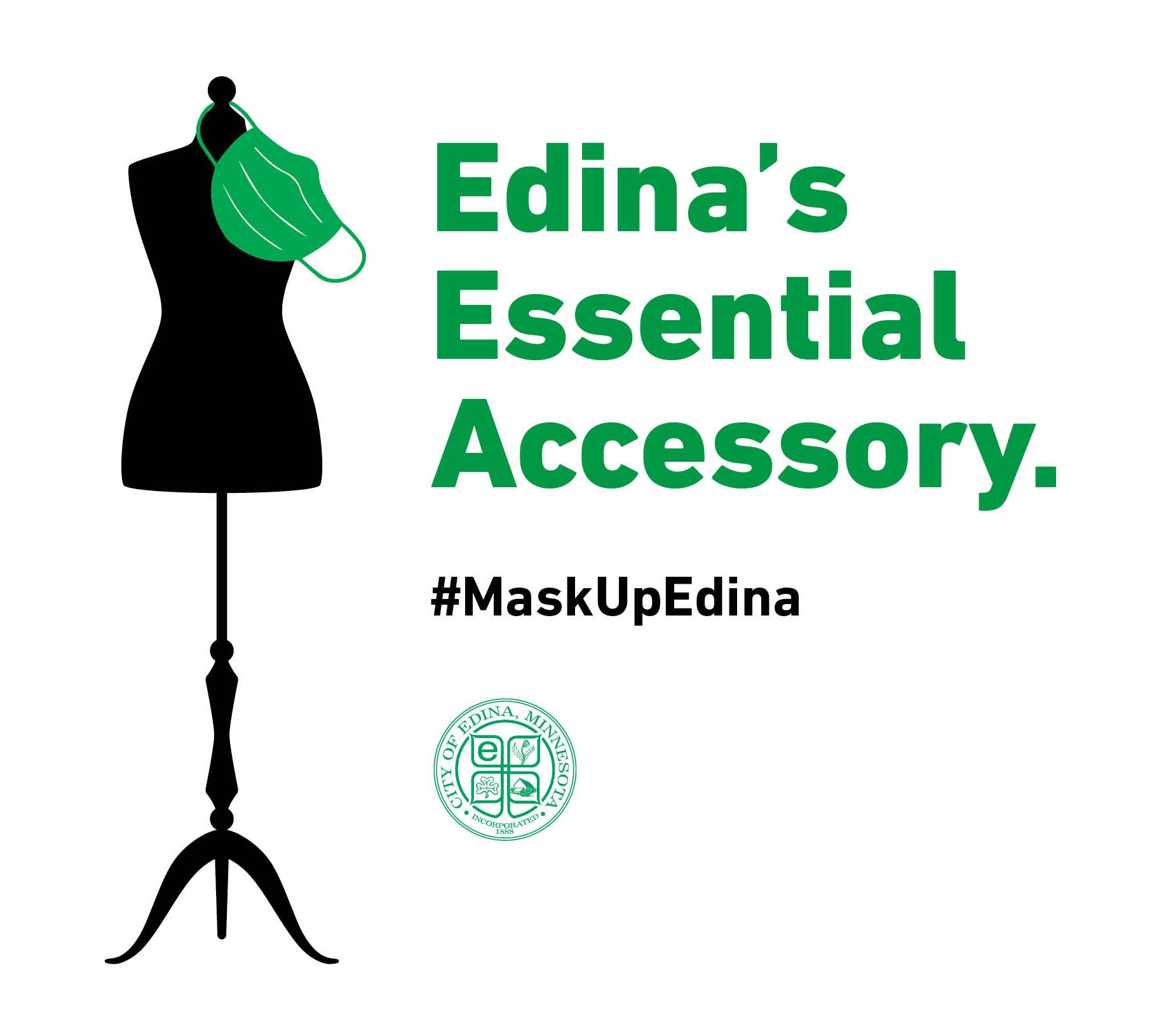 Edina's Essential Accessory Logo - Black